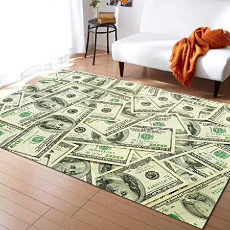 "100 Dollar Bill Money-Runner Rug 69.2/""x28.7/"" NonSlip Home Floor Decor Carpet Mat"