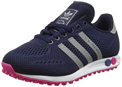 brand new a9510 f82a6 Adidas Women s La Trainer Em Training Running Shoes, Blue (Collegiate Navy Silver  Metallic