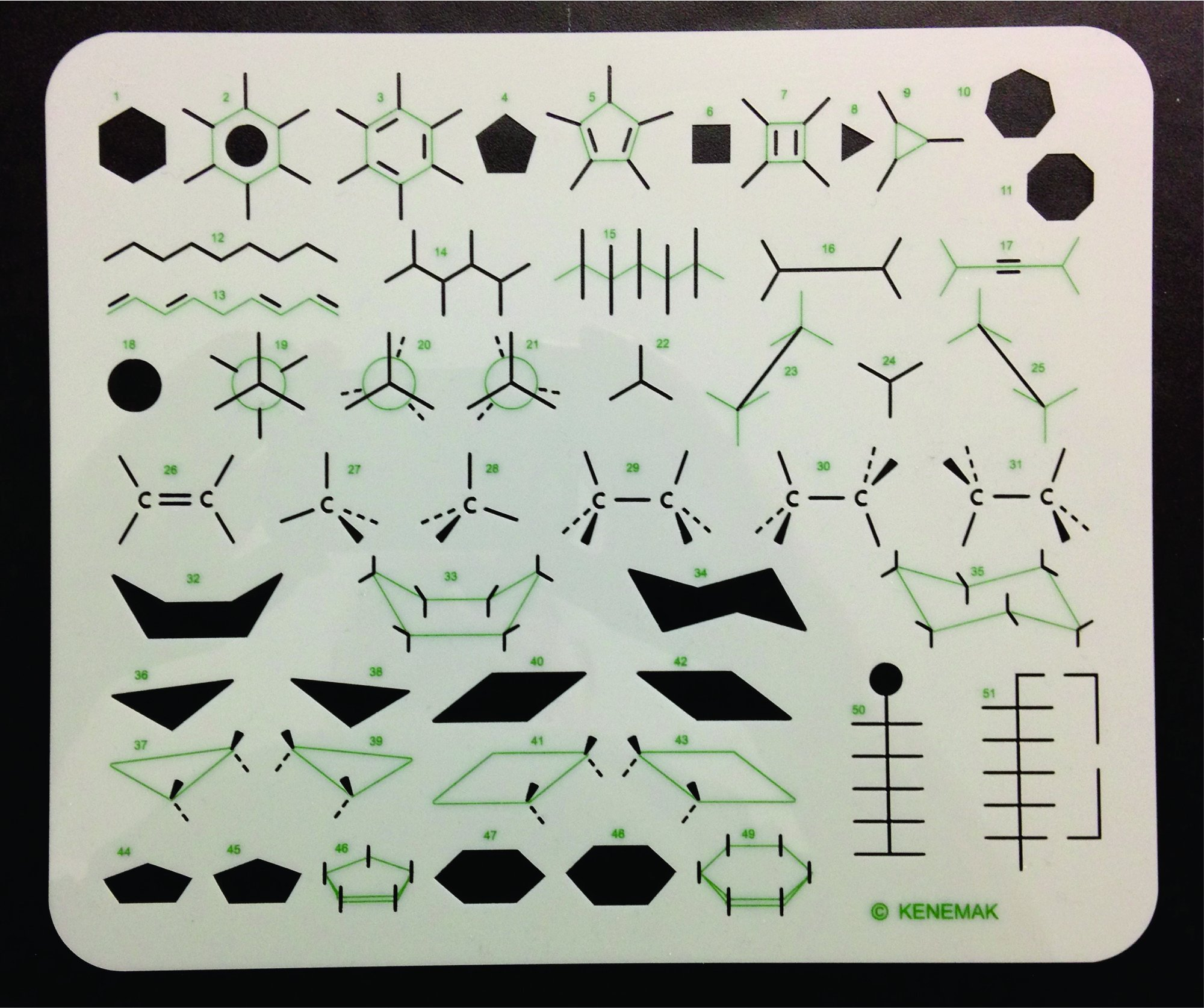 Organic Chemistry Stencil Drawing Template product image