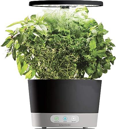 Renewed Classic with Gourmet Herb Seed Pod Kit AeroGarden Harvest Black