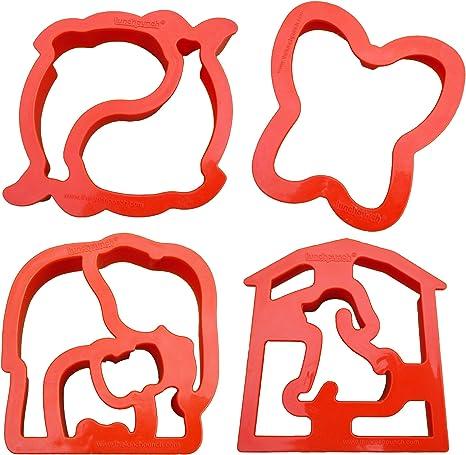 SandwichCookie Cutter Butterfly Red Plastic 4