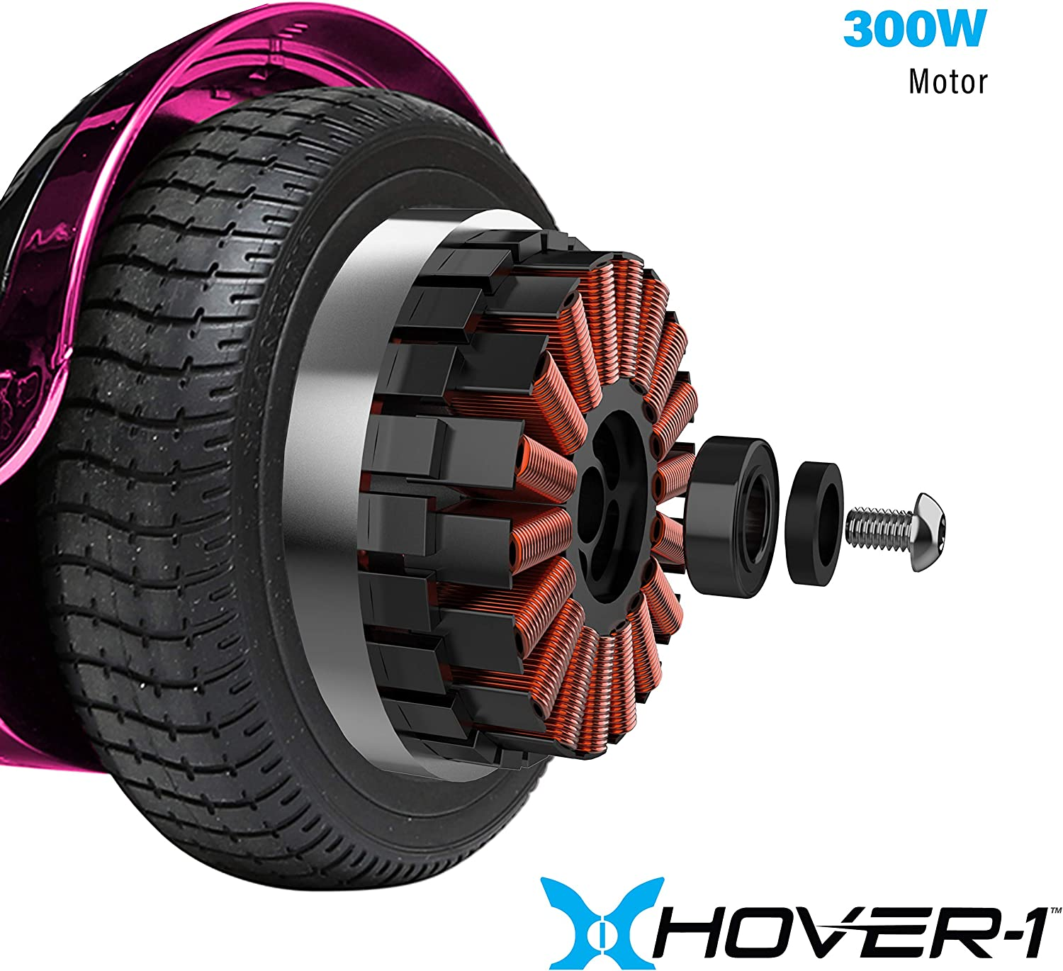 Hover-1 Chrome Electric Hoverboard Scooter Pink - 2