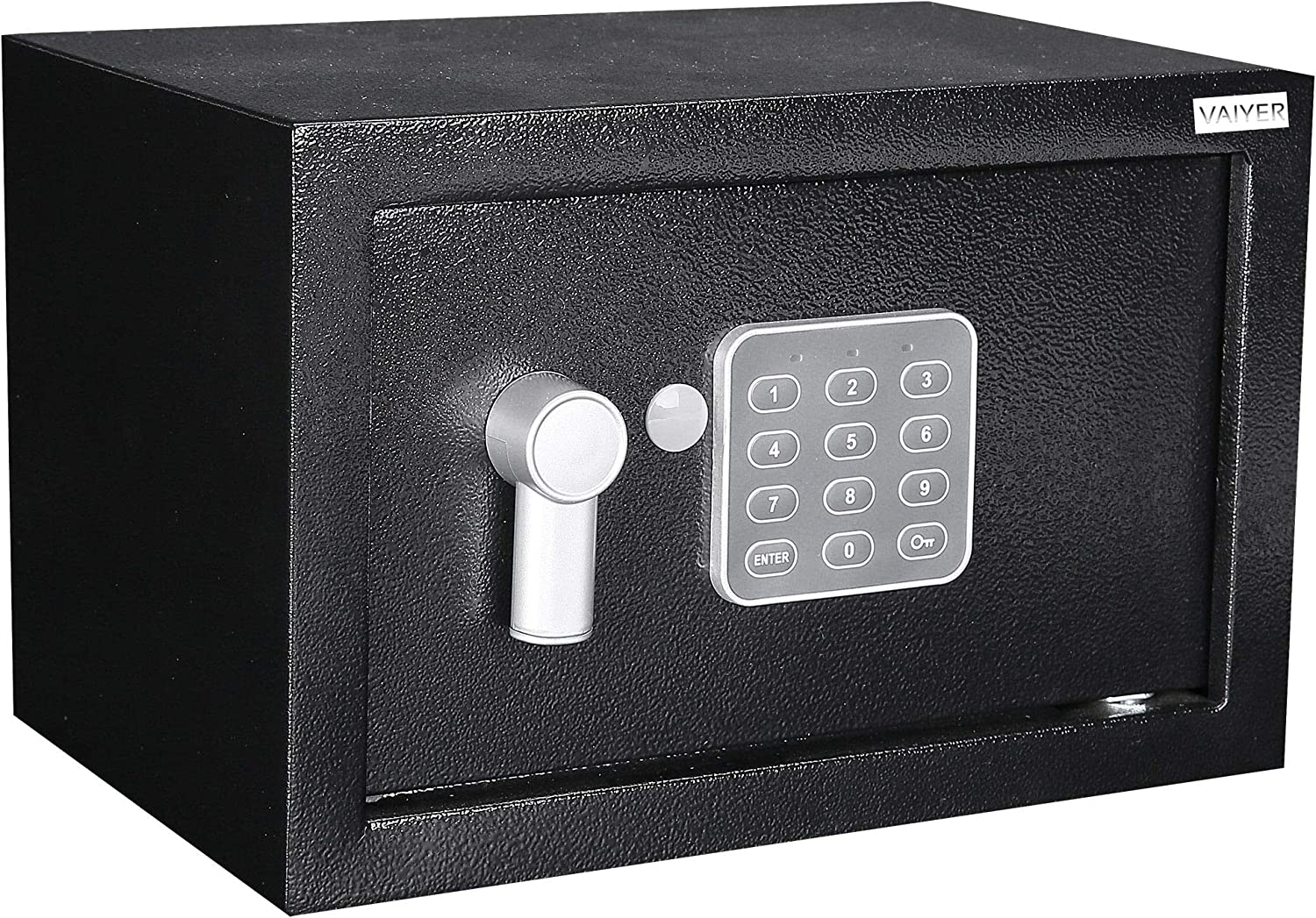 Home and Office Electronic Safe Box with Digital Keypad & Keys, Money Lock Boxes, Safety Boxes for Home, Office, Hotel Rooms, Business, Jewelry, Gun, Cash, Steel Alloy Drop Safe 6.7 x 9 x 6.7 inches