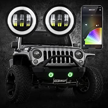 Jeep Wrangler Red LED /'Trade/' Wide Angle Side Light Beam Bulbs Pair Upgrade