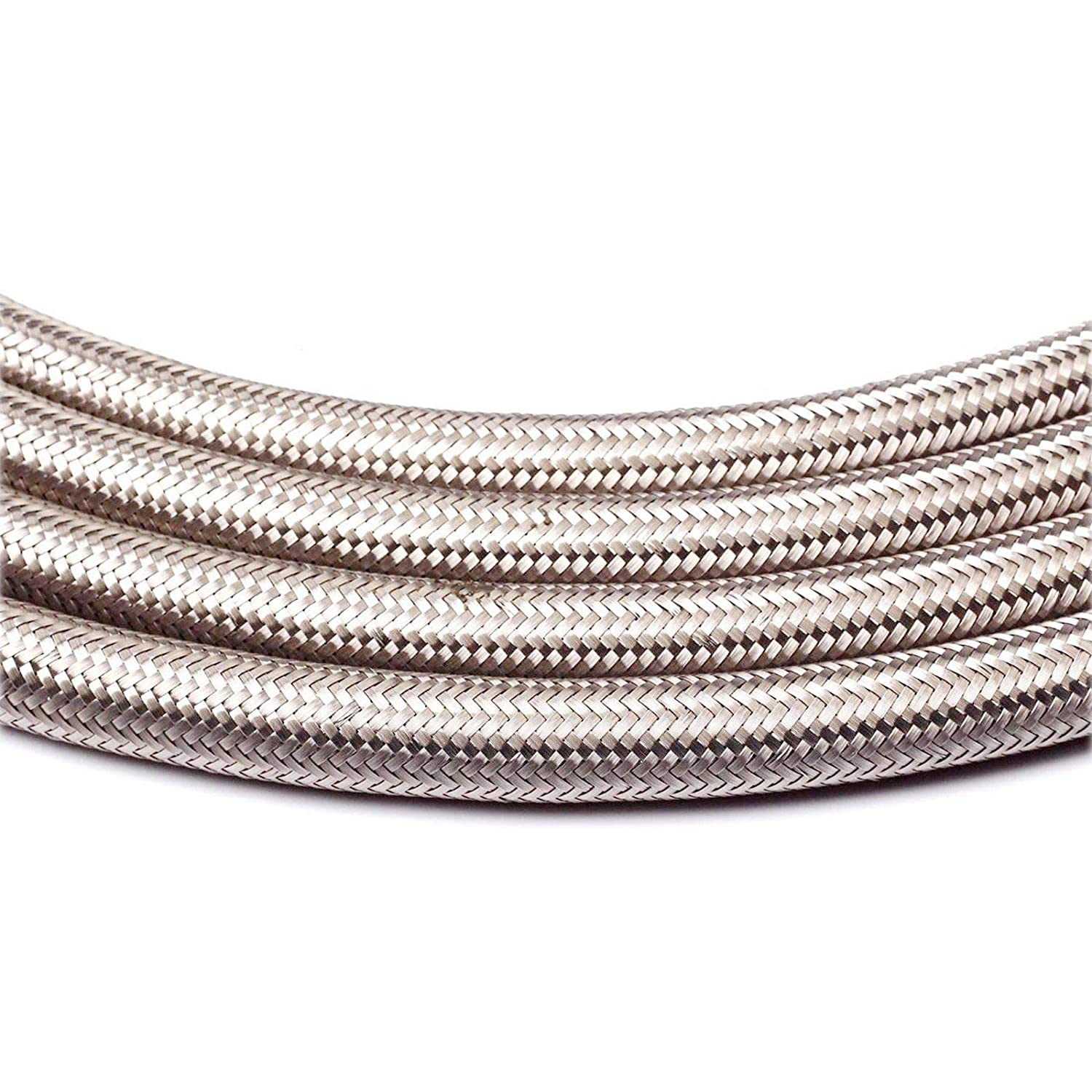 Black, AN6 Stainless Steel Braided Fuel Line Hose 10FEET