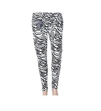 5895dc1046e7d Ladies Girls Women New Stretchy top or Leggings Zebra Print Tops t-Shirt  8-26: Amazon.co.uk: Clothing