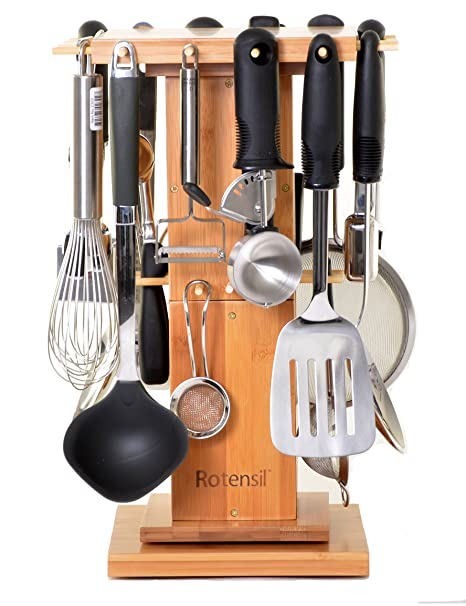 Rotensil Rotating Kitchen Utensil Organizer. Rotating Utensil Holder