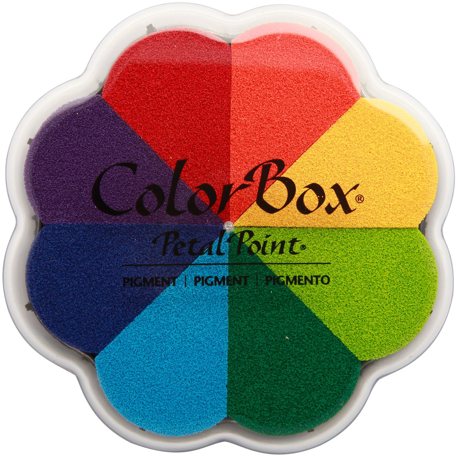 CLEARSNAP ColorBox Pigment Petal Point Option Inkpad 8-Color, Pinwheel (080000-08001)