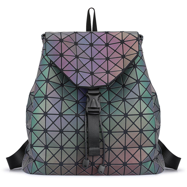 SAMSHOWME Fashion Women Luminous Flash Backpack Casual Travel Backpack Purse Large Capacity