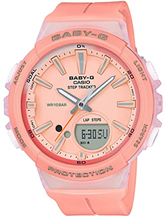 04e7847b3cd0 Amazon.com: CASIO BABY-G ~for running~ STEP TRACKER BGS-100-4AJF Womens  JAPAN IMPORT: Watches
