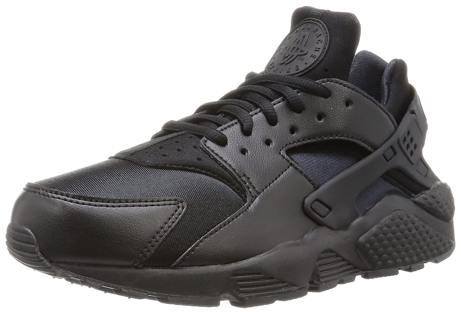 NIKE Women's Huarache Run SE Running Shoe B01A4ABC84 9.5 B(M) US|Black/Black