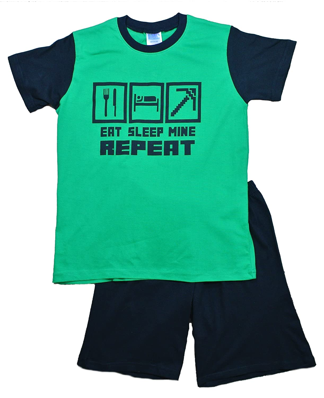 De la película el pijama corto de apagado Mine diseño de fábrica de Eat repetición de pijama permiten el paso de la 7 12 años verde: Amazon.es: Ropa y ...