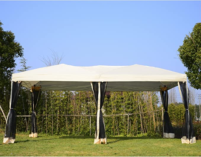 Outsunny Glorieta, jardín, de 3 x 6 m, de Metal, Resistente al ...