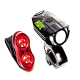 AWE® AWEBright™ USB Rechargeable Bicycle Light Set 540 LUMENS EXTREMELY BRIGHT