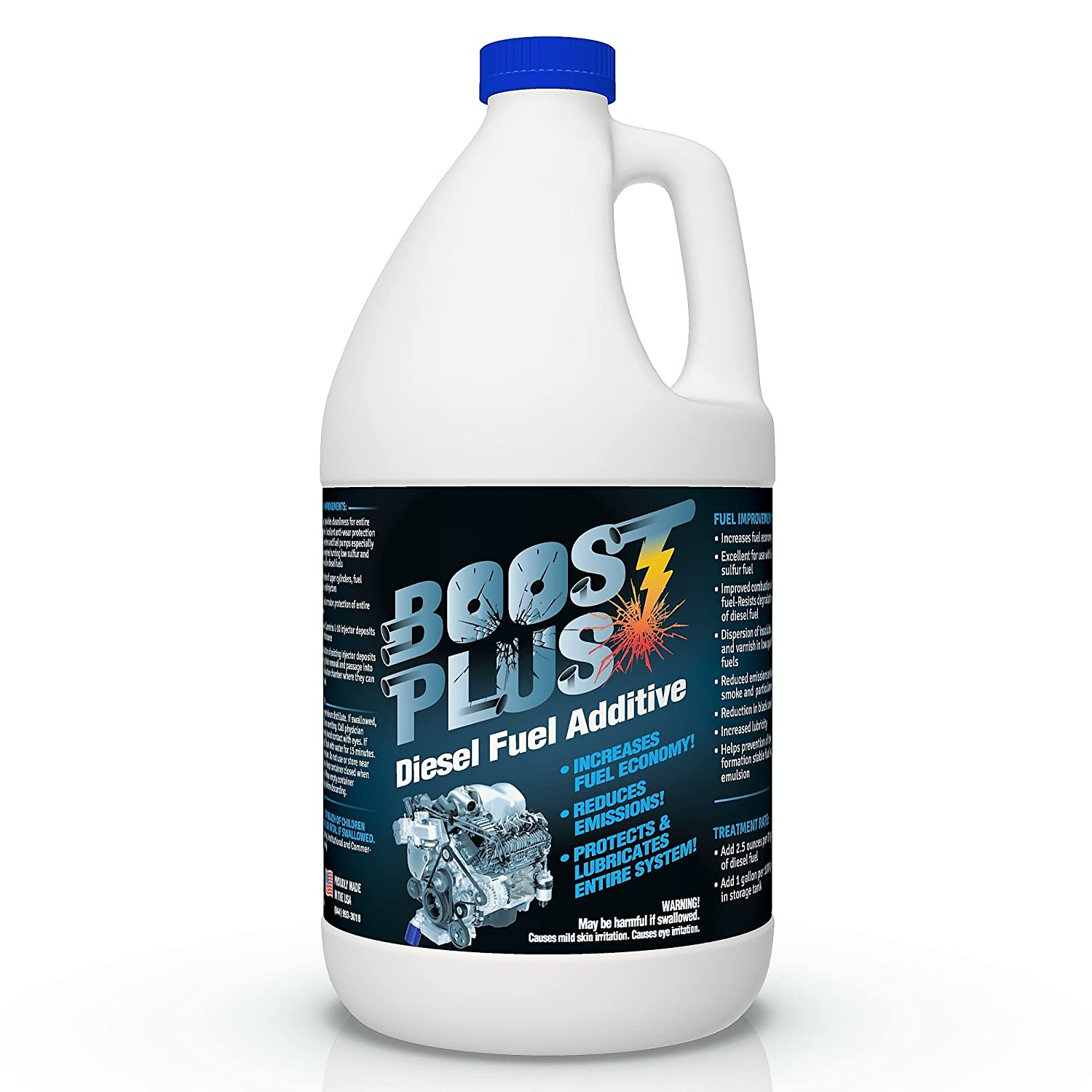 Boost Plus | Best Diesel Engine Fuel Additive | Cleans Engine Increases Fuel Economy (1 Gallon) FDC 4333461256
