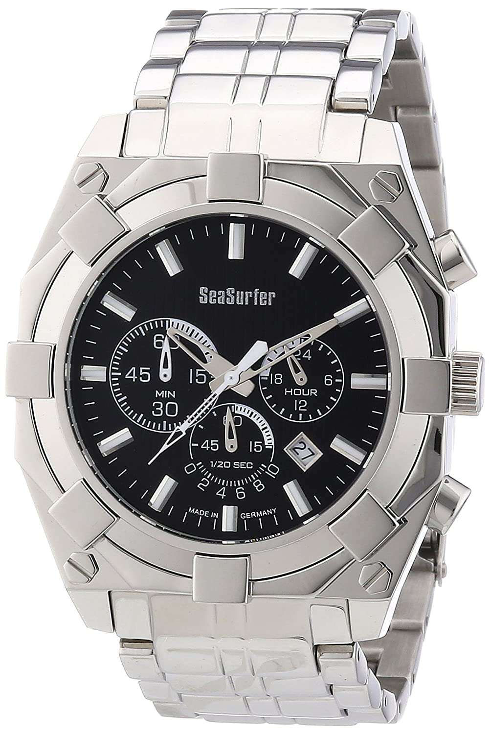 Sea Surfer Herren Chronograph Edelstahl Made in Germany 1545407BM