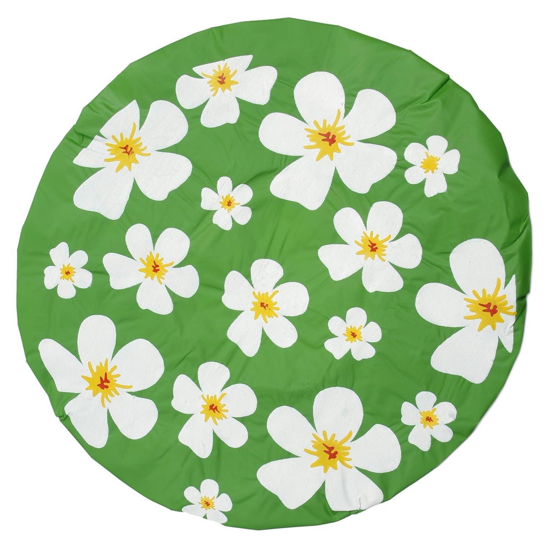 Duschhaube Grün Shower Cap Blumen-Motiv Bestellmich.com
