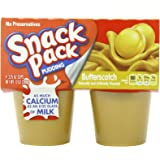 Snack Pack Pudding, Butterscotch, 4 Count (Pack of 12)