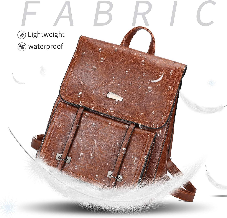 Mini Backpack Purse for Women Vintage PU Leather Multifunction Travel Shoulder Bag