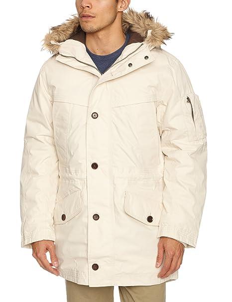Timberland - Abrigo de manga larga con capucha para hombre, color moonbeam, talla s: Amazon.es: Ropa y accesorios