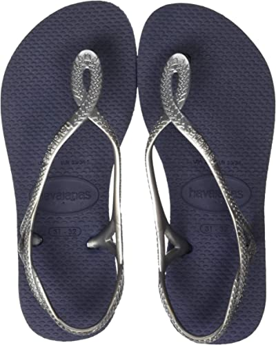 Havaianas Women Slim Organic Flip Flops Navy Silver