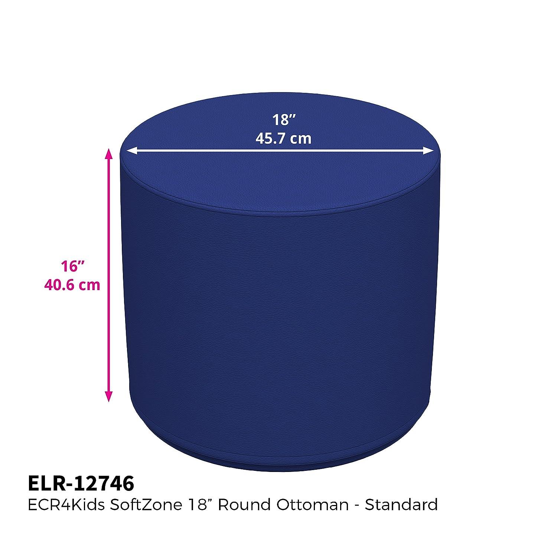 Furniture for Kids Standard 16 H, 2-Piece Set Grey ECR4Kids Softzone 18 Round Ottoman