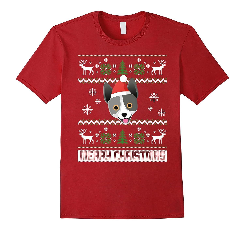 Australian Cattle Dog Santa Christmas Dog Lover Shirt-Art