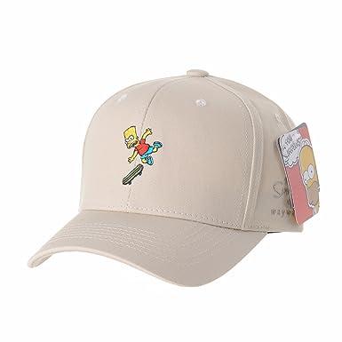 WITHMOONS Gorras de béisbol gorra de Trucker sombrero de The Simpsons Ball Cap Bart Skateboard Matt