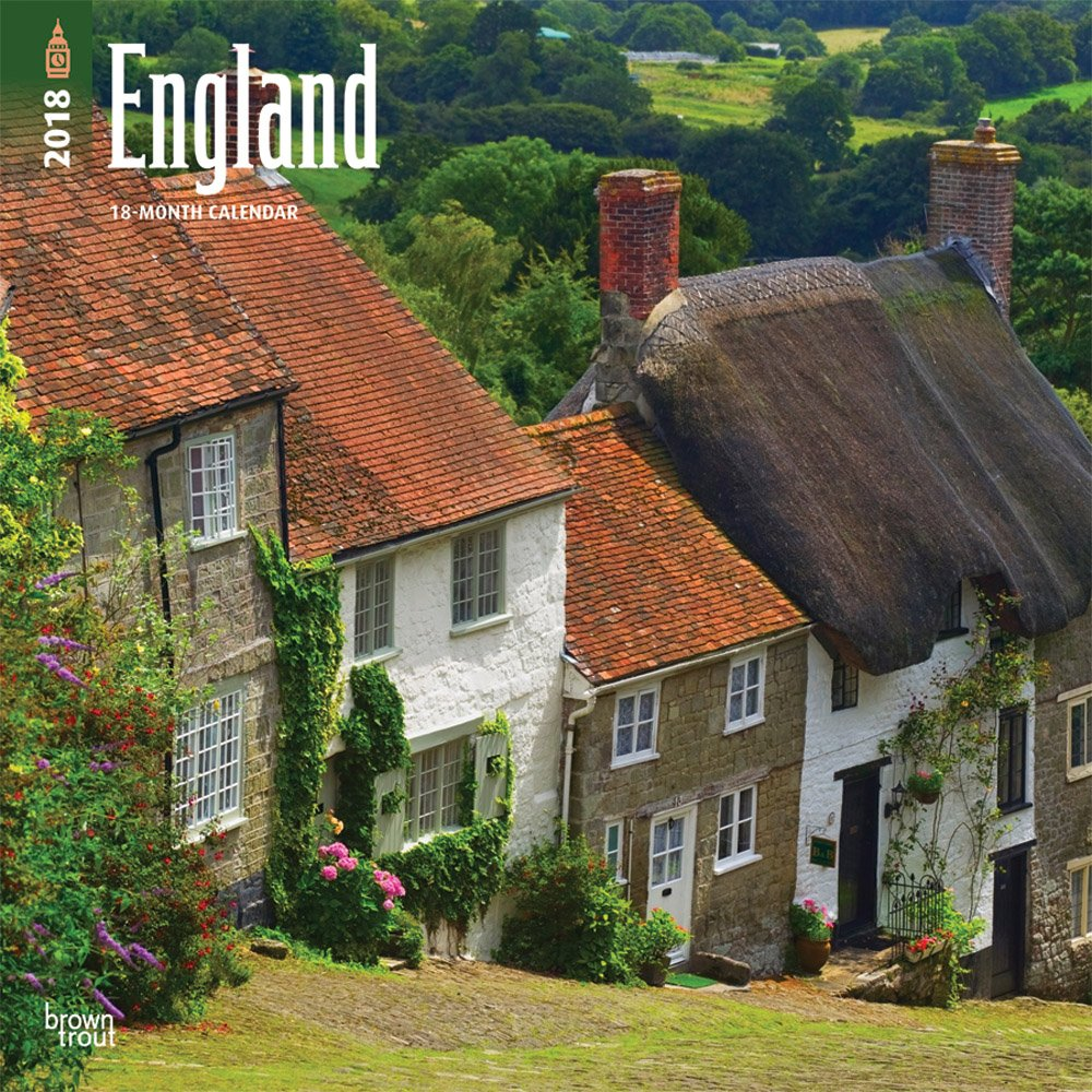 Download England 2018 12 x 12 Inch Monthly Square Wall Calendar, UK United Kingdom Scenic (English, French and Spanish Edition) pdf epub