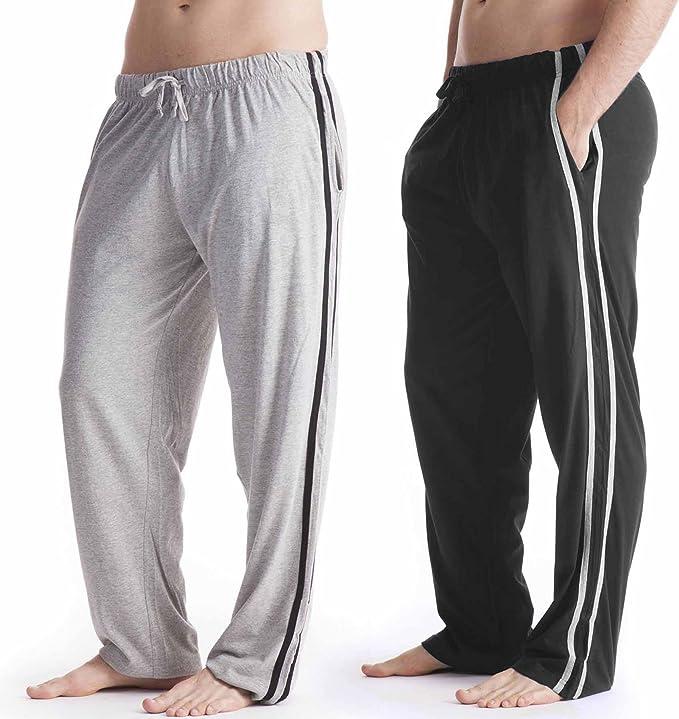 Socks Uwear Hombre Largo Ropa de descanso Pantalones Pijama (pack 2) Pantalón De Pijama Pijama - 1x negro, 1x Gris, XX-Large 42-44 Waist: Amazon.es: Ropa y accesorios