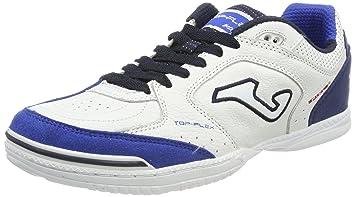 e31420d67d Chuteira Joma Top Flex Futsal Branca e Azul  Amazon.com.br  Esportes ...