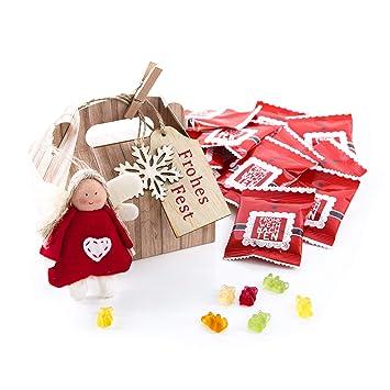 Weihnachtsgeschenke Mitarbeiter.10 Stück Weihnachtsgeschenke Verpackung Mit Füllung Weihnachten