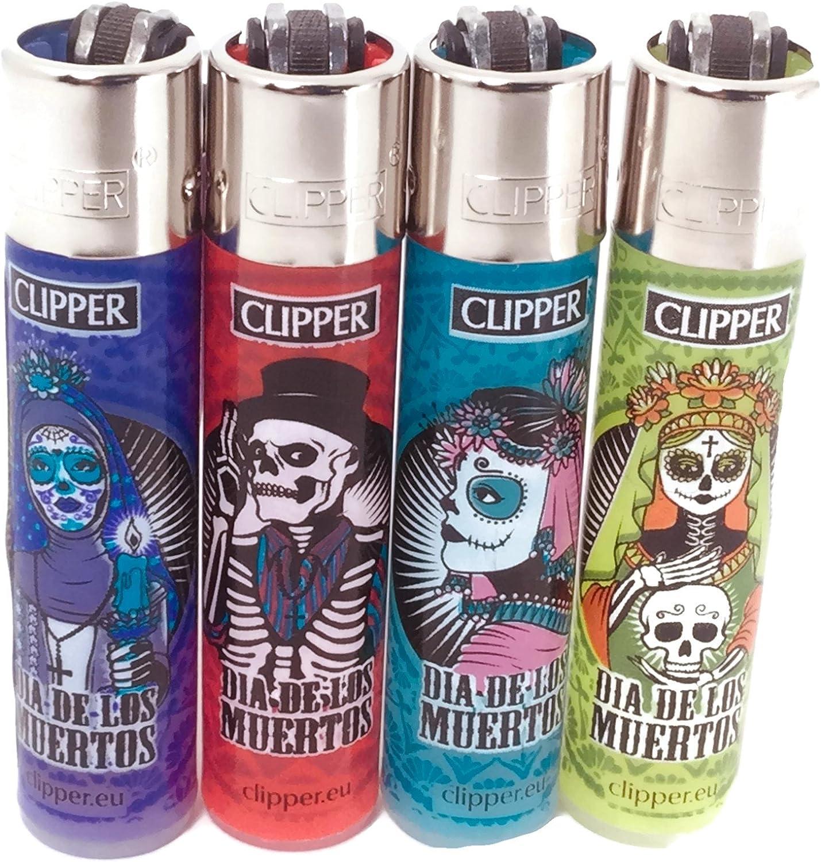Clipper eco encendedor santa muerte 4 pack-4 diferentes diseños ...
