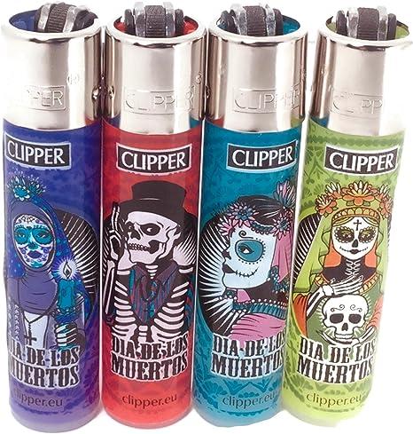 Clipper eco encendedor santa muerte 4 pack-4 diferentes diseños: Amazon.es: Salud y cuidado personal