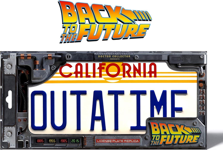 R/éplica de matr/ícula de Back To The Future Outatime Doctor Collector 8437017951285