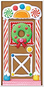 "Beistle 20017 Gingerbread House Door Cover, 30"" x 5'"