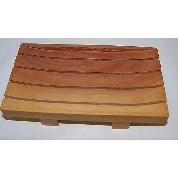 Mahagoni holz unbehandelt  2x Natürliche Seifenschale Seifen-Ablage Mahagoni Holz ca. 13x7 ...