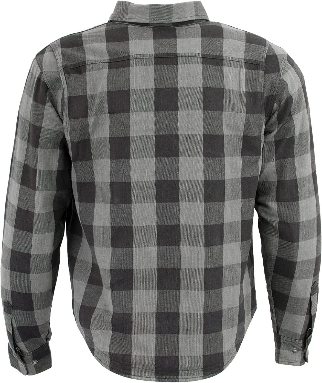 Milwaukee Performance Mens Checkered Flannel Biker Shirt With Aramid Black//Red//Yellow, 3X