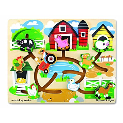 Melissa & Doug Farm Sliding Maze Wooden Puzzle Game: Melissa & Doug, , 4303: Toys & Games