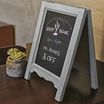 Kitchen Menu Display Chalk Board Signs BECTSBEFF 15 X 10.5 Wood Framed Tabletop Chalkboard Sign Mini Countertop Memo Board for Wedding D/écor Small Rustic Whitewash Wall Hanging Magnetic Chalkboard