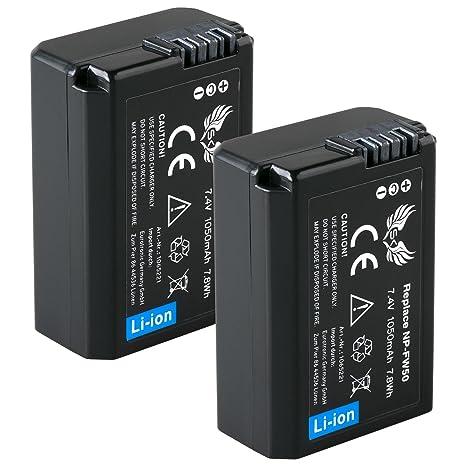 SK batería Sony NP-FW50 1050 mAh + Cargador Charger: Amazon ...