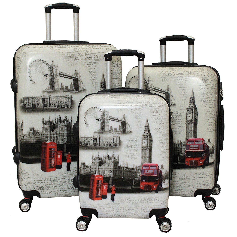 LONDON I Ice Canada 3-Piece Spinner Hardside Luggage Set Suitcase