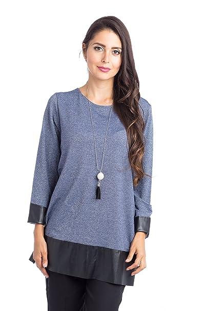 fb547730b8 Abbino 5022 Camisa Blusa Top para Müjer - Hecho en ITALIA - 4 Colores -  Verano