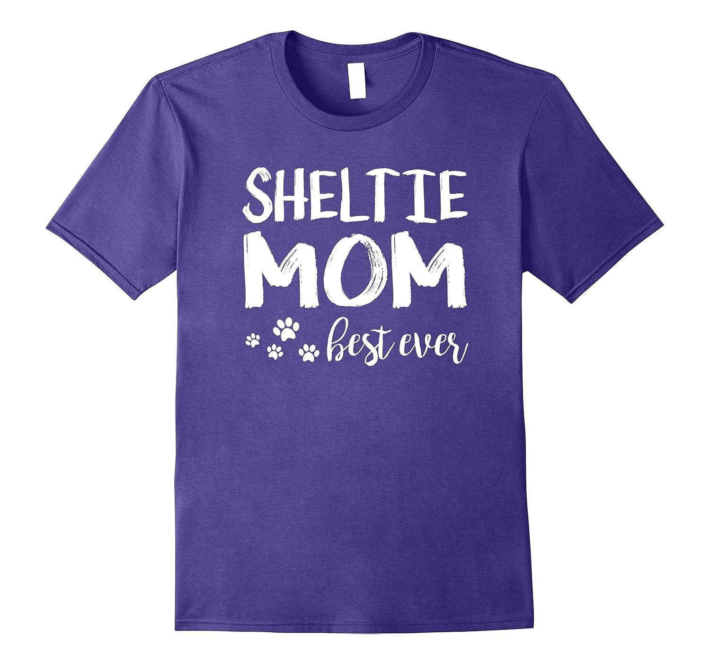 Sheltie Best Dog Mom Ever Shirts for Women-FL