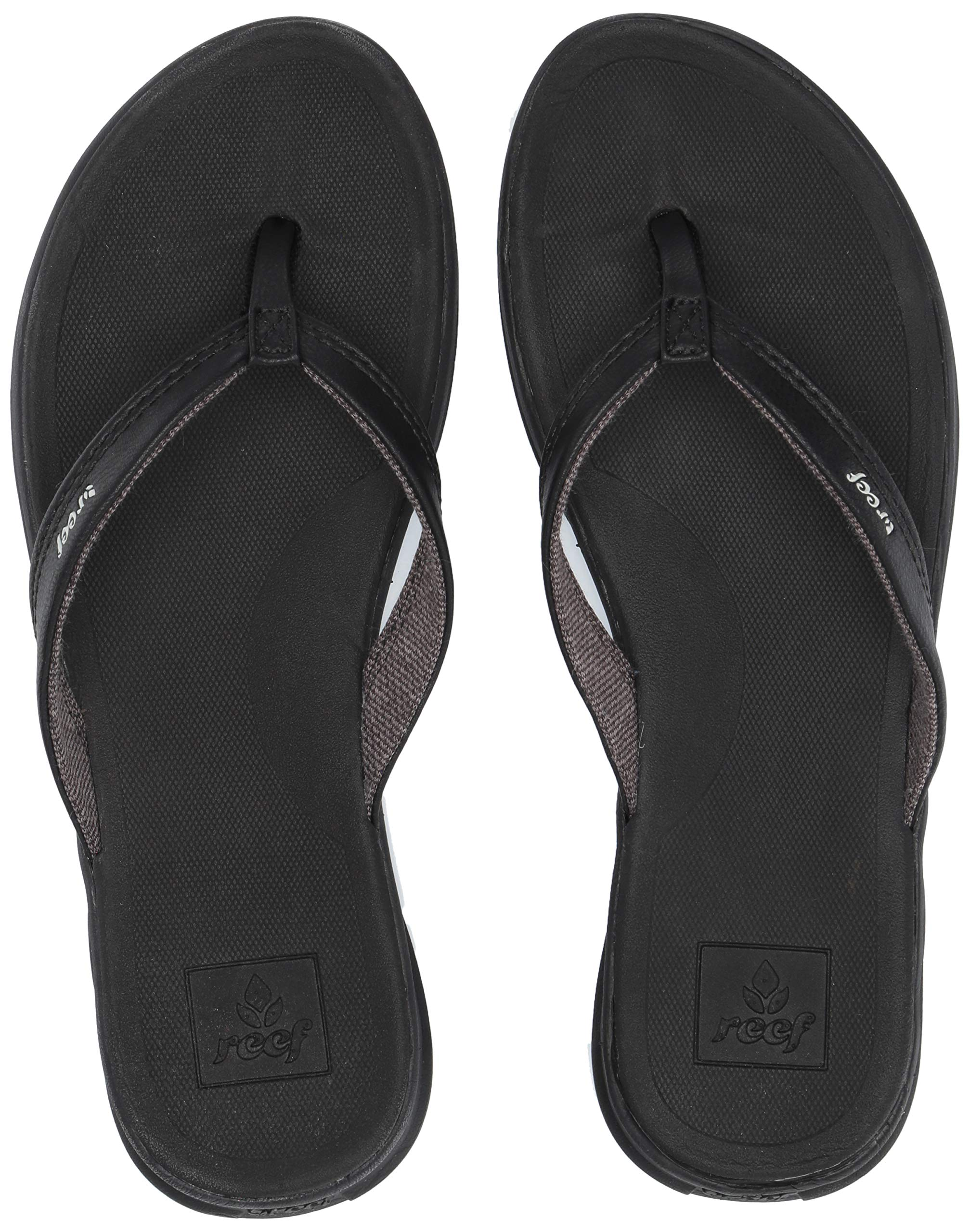 Reef Women's Sandals Rover Catch | Water-Friendly with Signature Swellular Technology for Instant Comfort and Durability, Black, 8 by REEF