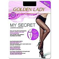 Goldenlady Mysecret, 20 DEN, Negro (Negro 099a), Small (Talla del fabricante: 2–S) para Mujer