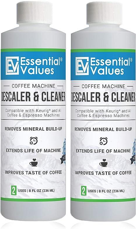Essential Values Descalcificador de Café para Delonghi, Keurig, Saeco, Bosch, Tossimo, Nespresso (Cada cafetera & una máquina de Espresso) 2 Paquetes Plateado: Amazon.es: Hogar