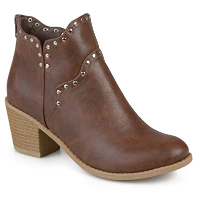 Womens Faux Leather Studded Boots