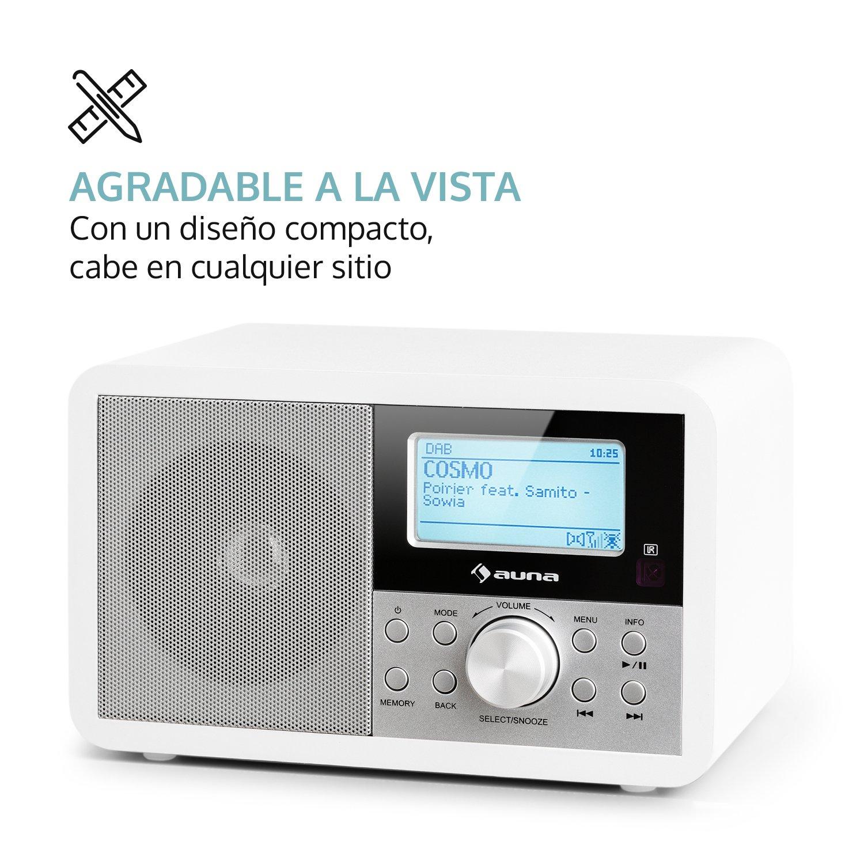 Aux//Kopfhörer Anschluß Reflexion HRA1260i Retro Design WLAN Internet Radio Weiß