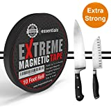 2017 Strongest Extreme Magnetic Tape for Holding Tools, Knives, Turn Any Surface Into an Organization Space Residue Free